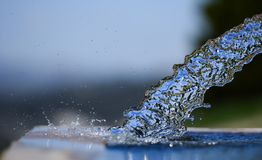 Pure, clean and clean drinking water. Clean, pure and natural drinking water stock photo
