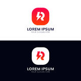 Clean R icon company sign vector logo design Royalty Free Stock Images