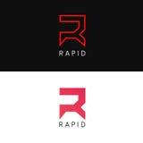 Clean R logo letter sign icon  design. R logo letter sign icon  design Royalty Free Stock Photography