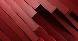 Red Abstract Stacked Boxes Closeup. 3D Rendering. Clean Red Abstract Stacked Boxes Closeup High Contrast. 3D Rendering Stock Image