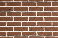 Clean red brickwall background royalty free stock photo