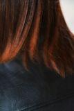 Clean reddish blurred hair background Royalty Free Stock Image