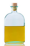 Clean refined oil in the classic glass bottle Royalty Free Stock Photo