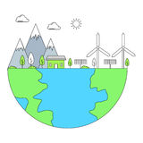 Clean and renewable energy concept Stock Images