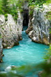 Clean river. Flowing through a river gorge Royalty Free Stock Photo