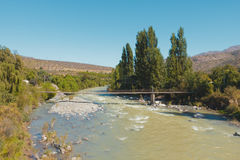 Clean river in the Andes Stock Photo