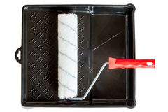 Clean roll in a black plastic tray Stock Images