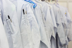 Clean room dress for factory Stock Photos