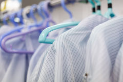 Clean room dress for factory Royalty Free Stock Photos