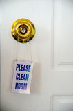 Clean room note on the  door Royalty Free Stock Photography