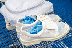 Clean room shoes for factory Royalty Free Stock Image