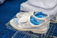 Clean room shoes for factory Stock Images