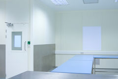 Clean room with tables Royalty Free Stock Photo