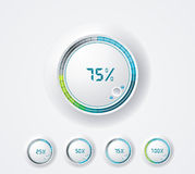 Clean round progress bar. Royalty Free Stock Images