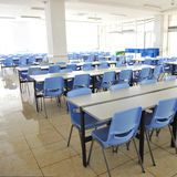 Clean school cafeteria Royalty Free Stock Image