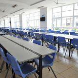 Clean school cafeteria Stock Photo