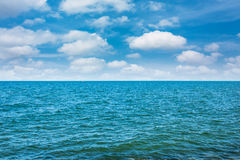 Clean sea with blue sky Royalty Free Stock Photo