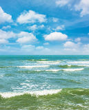 Clean sea with blue sky Stock Images