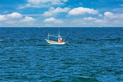 Clean sea with blue sky Stock Image