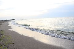 Clean surface of the Red Sea. Clean sea surface of the Red Sea royalty free stock photos