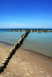 Clean sea water. Quiet beach - perfect peace in the maritime climate Royalty Free Stock Photography