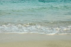 Clean sea water as background. Summer backdrop royalty free stock image