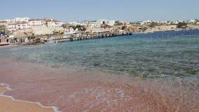 Clean sea water and beautiful coastline stock video footage