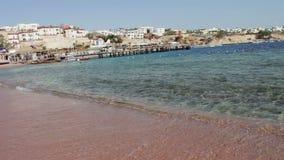 Clean sea water and beautiful coastline stock video