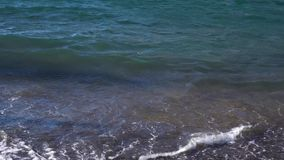 Clean sea water. At amalfitana volcanic beach, Italy stock video