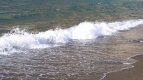 Clean sea water. With waves at amalfitana beach, Italy stock footage
