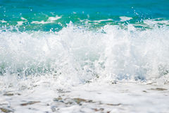 Clean sea water is removed close up Royalty Free Stock Photo