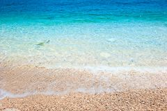 Clean sea water rolls Royalty Free Stock Images