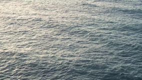 Clean sea water. Surface of clean deep sea water with waves stock video