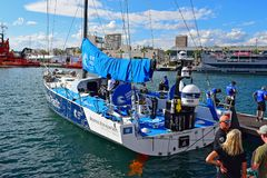 Clean Seas turn The Tide On Plastic Volvo Ocean Race 2017. The sailing boat just before the start of the Round The World Race Stock Images