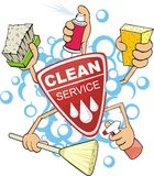 Clean service. Sign of the service of the cleaning the washer Royalty Free Stock Photography