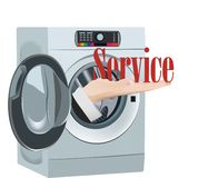 Clean service industrial laundry service symbol.  royalty free illustration