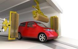 clean servicewash för bil stock illustrationer