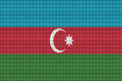 Clean sheet of paper with blending  Azerbaijan flag Stock Images