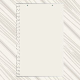 The clean sheet of paper on white wooden texture Royalty Free Stock Photography