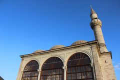 Clean shot of mosque facade in the morning stock photo