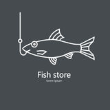 Clean and simple illustration of a salmon. Stock Photography