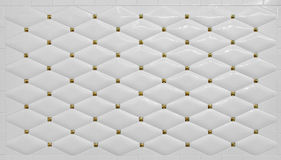 Clean Simple White Tile Wall Background with golden detailing Stock Images