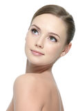 Clean skin of woman stock images