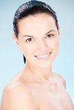 Clean skin woman Stock Images