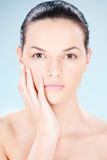 Clean skin woman Royalty Free Stock Images