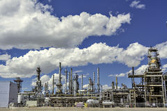 Clean sky with a gasoline refinery in Nebraska Royalty Free Stock Images
