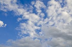 Clean sky and white clouds Royalty Free Stock Photo