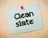 Clean Slate Stock Photo