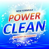 Clean Soap design product. Package design for laundry detergent or Washing Powder. Vector illustration. EPS 10 Stock Photo