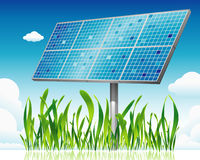 Clean Solar. Solar receiver, clean solar energy Stock Image